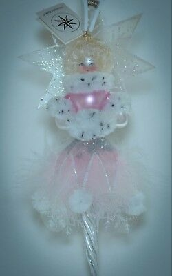 Christopher Radko Christmas Ornament WINTER BRIDE ICICLE PINK & WHITE 96-095-0*