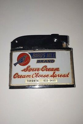 Mint 1960s Bird's Hill Cottage Cheese Advertising  Lighter Collectable Toronto