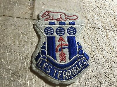 WWII/WW2/Post? US ARMY PATCH 127th Infantry Regiment LES TERRIBLES-ORIGINAL!