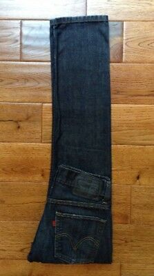 LEVIS 511 Mens SKINNY Dark Wash Blue Jeans Factory Distressed TRUE 28x30 AWESOME