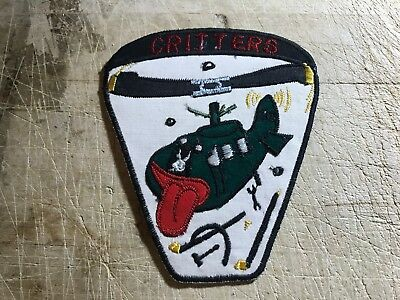 """Cold War/Vietnam? US ARMY PATCH  """"CRITTERS Helicopter Maintenance ORIGINAL!"""
