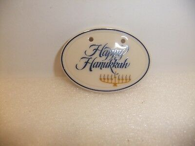 LONGABERGER HAPPY HANUKKAH TIE-ON NEW IN BOX Very Nice!!!