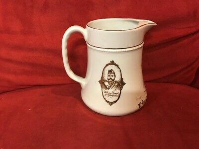 "Vintage GLENFIDDICH Unblended SCOTCH WHISKEY 5.5"" Ceramic Pitcher Mug"