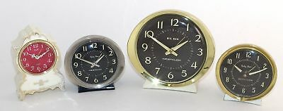 LOT OF FOUR ALARM CLOCKS - (2) BABY BEN, BIG BEN and ELGIN - PARTS/REPAIR SV598
