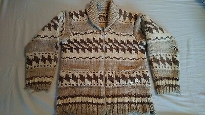 Vintage Cowichan lambswool sweater British Columbia Made 1970s