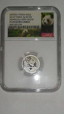 Hawaii Panda 2016 Honolulu Silver Proof Coin Ultra Cameo Official Issue w/COA