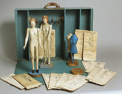 Vintage 1940's Simplicity Wartime Fashiondol by Latexture w/ 14 rare patterns