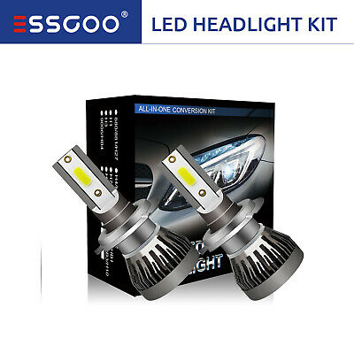 MINI H7 COB LED Headlight Bulbs Conversion Kit Xenon White 72W 9000LM 6000K HID