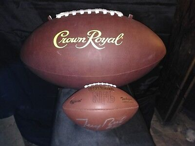 Oversized Crown Royal football for man cave