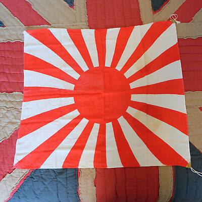 Vintage Collectible Original Militaria WW2 Japanese Rising Sun Flag 31 x 29