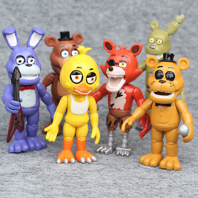 6 PCS FNAF Five Nights At Freddy's Game Action Figures Cake Topper Doll Kid Toys