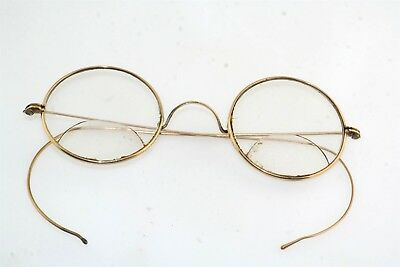Antique Gold Filled Round Rim Eyeglass Spectacles