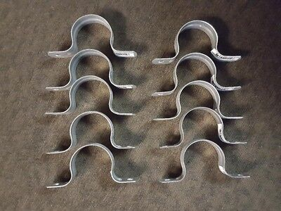 "Lot of 10 - Sioux Chief 1-1/4"" IPS 2-hole tube pipe strap galvanized"