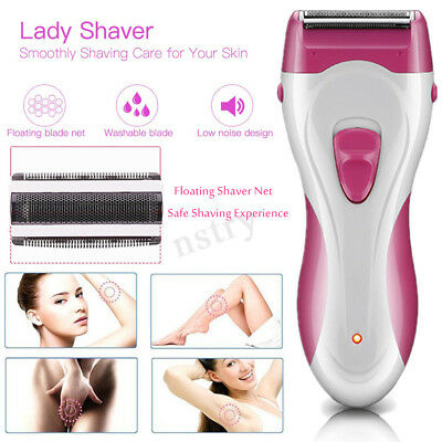 Women Electric Shaver Trimmer Cordless Arm Legs Hair Remover Lady Bikini Care