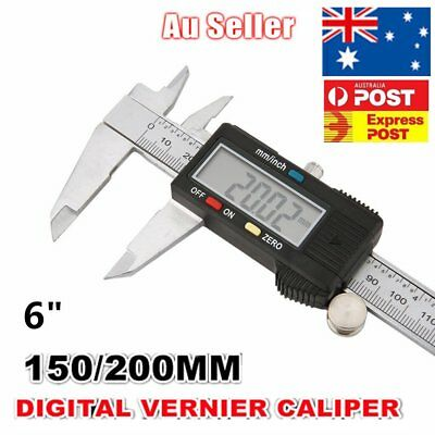 NEW 150MM 6inch LCD Digital Electronic Vernier Caliper Gauge Micrometer QW