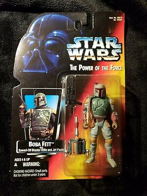 Star Wars POTF2 Boba Fett Half Circles  Power Force RC Red Card 1995