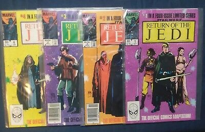 Return Of The Jedi #1-4 [1983, Marvel] Official Adaption of the Movie - Complete