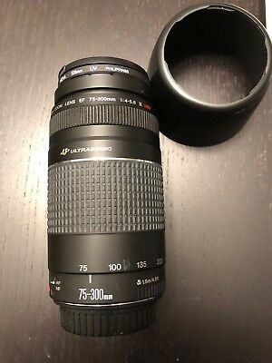 Canon Zoom Lens EF 75-300mm ultrasonic  58mm 1:4-5.6 III USM