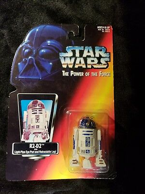 Star Wars POTF2 R2-D2 Power Force RC red card 1995