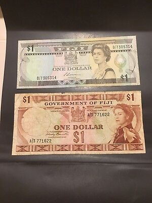Fiji 2 X $1 Bank Note