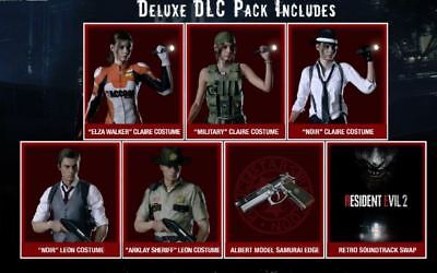 Resident Evil 2 Remake Deluxe Edition PS4 Digital Pack Claire Leon Costumes