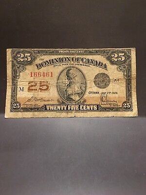 canada bank notes dominion of canada, 1923