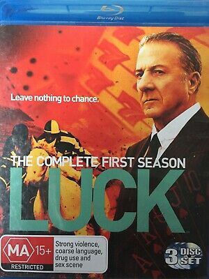 LUCK - Season 1 3 x BLURAY Set Complete First Series One Dustin Hoffman
