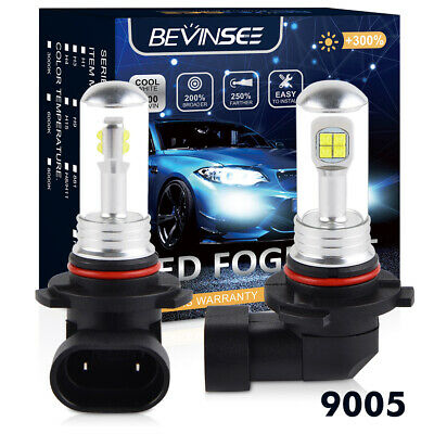 2PC WHITE SUPER Power Cree 9005 9140 HB3 LED Bulbs For DRL