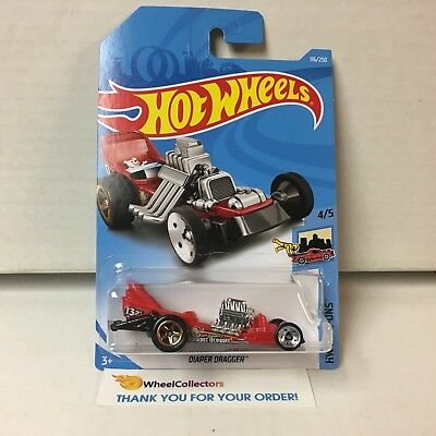 Diaper Dragger #116 * RED * 2019 Hot Wheels Case E