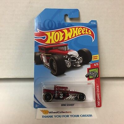 Bone Shaker #177 * Dark Red * 2019 Hot Wheels Case E