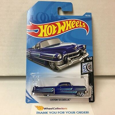 Custom '53 Cadillac #106 * BLUE * 2019 Hot Wheels Case E