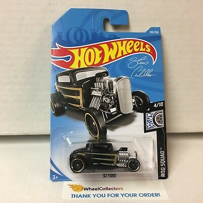 '32 Ford #105 * BLACK * 2019 Hot Wheels Case E