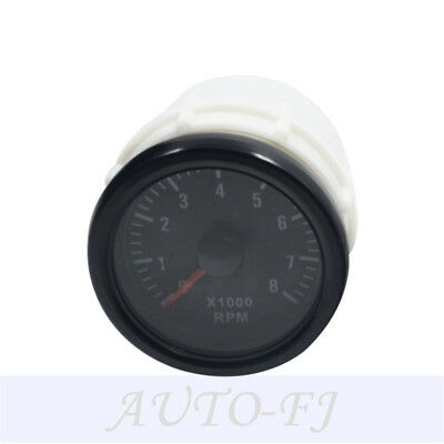 "2""52mm Black Tinted 0-8(x1000) RPM Car Transparent Tacho Gauges Meters Universal"