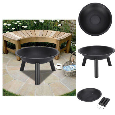 Sunnydaze Outdoor Portable Cast Iron Fire Pit Bowl With Steel Finish 22-Inch US