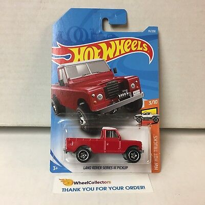 Land Rover Series III Pickup #111 * RED * 2019 Hot Wheels Case E