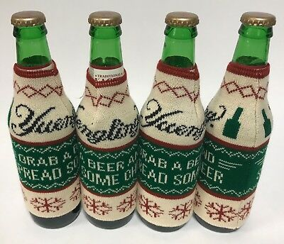 Yuengling Lager Ugly Christmas Sweater Koozie - Four (4) - New & Free Shipping