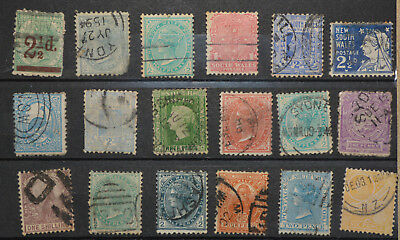 18 X New South Wales Colonial  Stamps ALL DIFFERENT