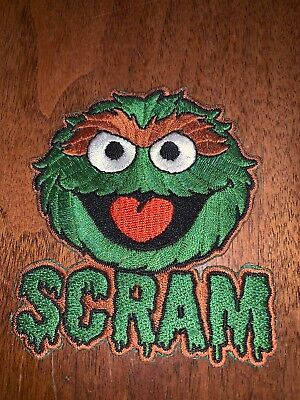 Oscar The Grouch Patch Embroidered Patch Sesame Street Muppets Diy