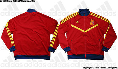 1d4f61448bc6 Soccer Spain National Team 13 Model Track Top Anthem Jacket(XL)Red FIFA