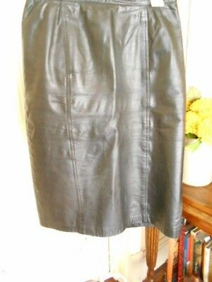 Vintage Black Leather Skirt By Hyde & Chic Adelaide