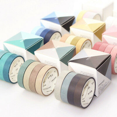 4 Pcs Fall In Love with Color Washi Tape Kawaii Scrapbooking Decorative Tapes