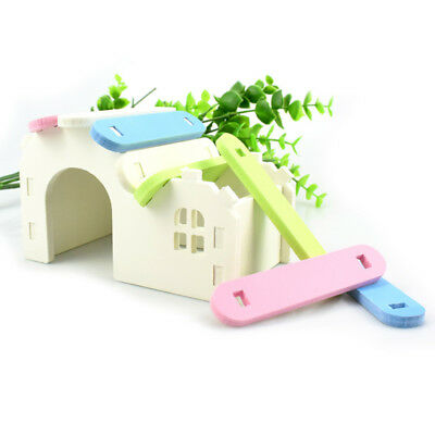 Wood Small Pet Rabbit Mice Chinchilla Hamster House Cage Exercise Toy Supplies