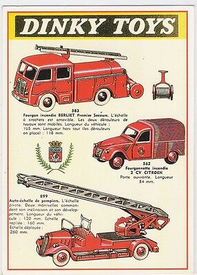 Cpm - Publicite - Reclame - Jouets - Vehicules Pompiers Dinky Toys