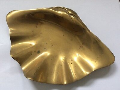 Coupelle / vide poche en bronze art nouveau forme coquille judgenstil