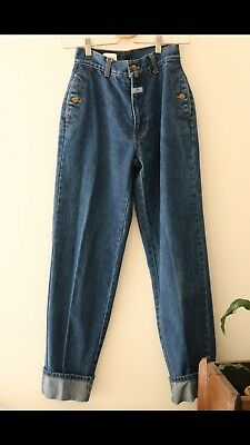 Vintage Marcel Dachet High Waisted Jeans Age 14 Kids Excellent Condition