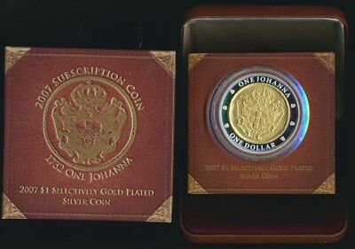 Australia 2007 $1 1.94oz Gold Plated Proof Silver Johanna Highly Sought After!!!