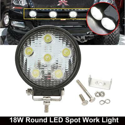 """4"""" INCH18W LED Round Work Spot Light Fog Lamp For Jeep Motorcycle Offroad SUV"""