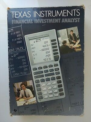 NOS Texas Instruments Financial Investment Analyst Calculator  Original Box