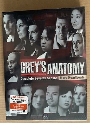 Grey's Anatomy: The Complete Seventh Season DVD **NEW & SEALED**