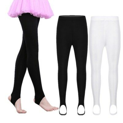Girls Stretch Stirrup Tights Pants Long Stockings For Yoga Gym Fitness Dance